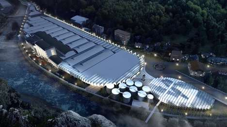 Architectural Sparkling Water Facilities - BIG Will Design the New San Pellegrino Headquarters