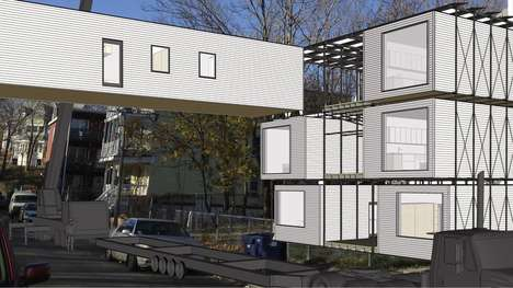 Prefab Housing Complexes - Live Light's Urban Housing Unit Introduces Small Prefab Spaces to Boston