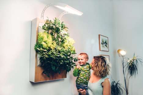 Indoor Hanging Gardens - Ponix Systems Designed a Functional and Decorative Hydroponic System