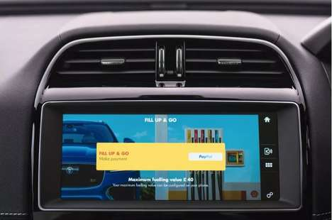 In-Car Gas Payments - Jaguar and Shell will Offer In-Car Payments Through the Dashboard Interface