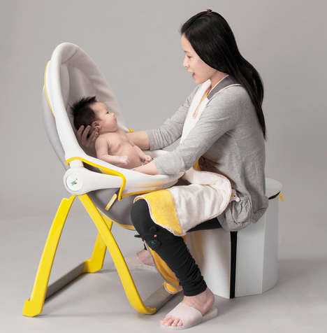 Folding Infant Bathing Systems - The 'BathPouch' Baby Bath Streamlines the Act of Bathing a Child