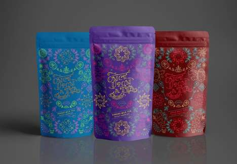 Whimsical Milk Tea Branding - The Brand 'Once Upon A Tea' Offers Fruit-Flavored Beverages