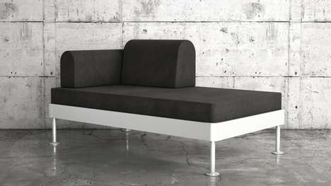 Modular Flat-Pack Sofa Beds - The Delaktig is a Collaboration Between Designer Tom Dixon and IKEA