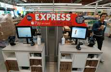 High-Speed Checkout Stations - This 365 by Whole Foods Station Only Accepts Cards or Apple Pay