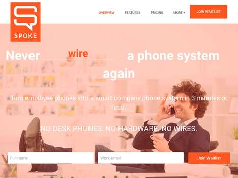 Decentralized Business Phone Systems - 'Spoke' Creates Business Lines Using Employee Cellphones