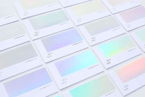 Color-Changing Business Cards - Réka Neszmélyi's Cards Are Constantly Transforming Their Appearance