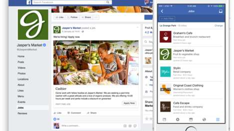 Social Media Job Applications - Facebook Job Postings Now Let Users Apply Through the Platform