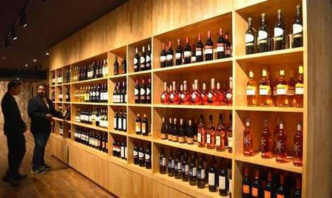 Sprawling Upscale Liquor Store - 'Tonique' is a Massive Retail Outlet Carrying Fine Wine and Liquor