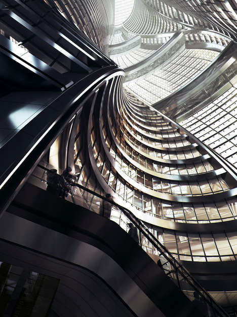 Record-Breaking Building Atria - Zaha Hadid Architects' Leeza SOHO has the World's Tallest Atrium