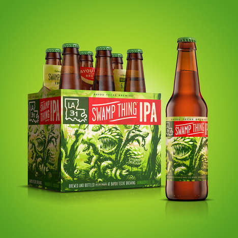 Monstrous Beer Branding - Bayou Teche Brewing's 'Swamp Thing IPA' Takes Inspiration from Legends