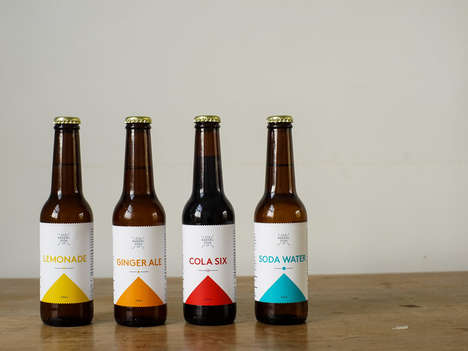 Chromatic Soda Branding - Six Barrel Soda Co. Offers Artisanal Beverages With Vibrant Labels