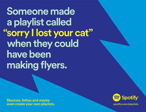 Humorous User Data Billboards - This Spotify Campaign Was Created to Showcase Creative Playlists