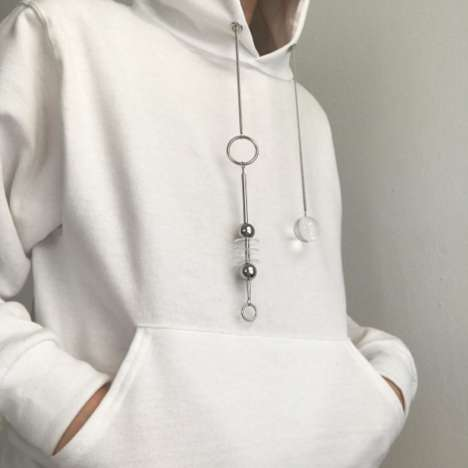 Hoodie Drawstring Jewelry - Hannah Jewett Makes Pullovers with Decorative Hoodie Strings