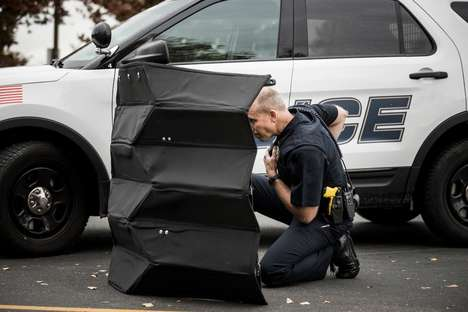 Bulletproof Origami Shields - This Bulletproof Police Barrier is Lightweight and Protective