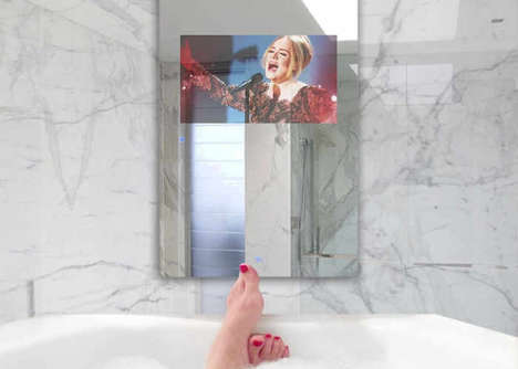 Waterproof Touchscreen Display Mirrors - The Tammax Smart Mirror Displays Web Content and More