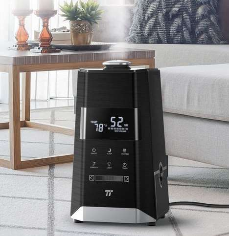Customized Humidity Appliances - The TaoTronics Ultrasonic Mist Humidifiers Have Intuitive Controls
