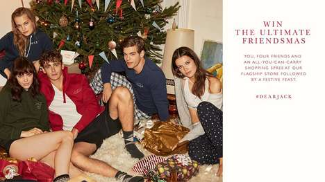 Friendsmas Shopping Sprees - The Jack Wills Friendsmas Sweepstakes Offers a Friendsmas Feast