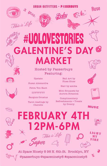 Galentine's Day Pop-Ups - Urban Outfitters Celebrated Friendships with a Galentine's Day Market