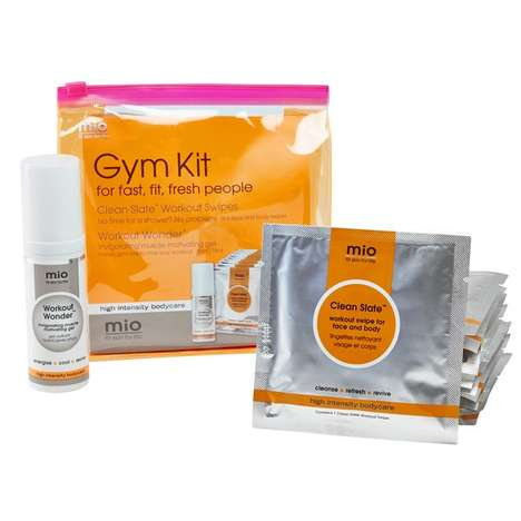 Post-Workout Skincare Kits - Mio Skincare's 'Gym Kit' Includes Workout Wipes and a Wonder Gel