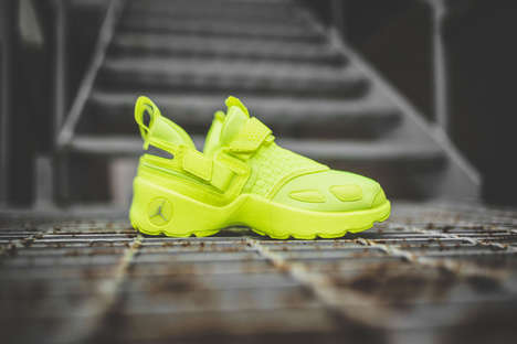 Highlighter-Yellow Basketball Sneakers - The New Jordan Trunner LX Energy Uses the 'Volt' Colorway