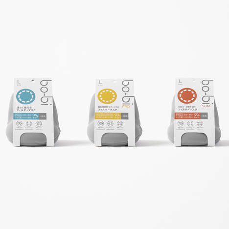 Pollution Mask Packets - The Nendo Bo-Bi Mask Fights Pollution in Japan