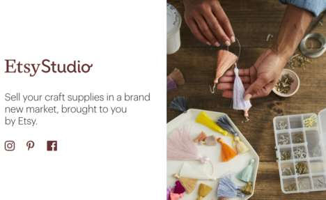 Craft Supply Marketplaces - 'Etsy Studio' is a New Online Destination for Crafters to Buy and Sell