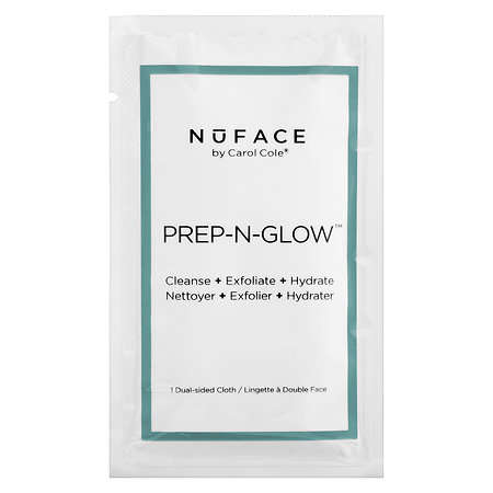 Dual-Sided Cleansing Cloths - NuFACE's Prep-N-Glow Cloths Cleanse, Exfoliate and Moisturize