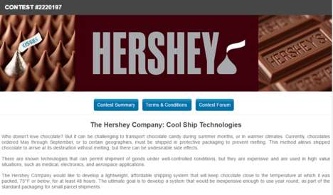 Crowdsourced Chocolate Shipping Contests - Hershey's Latest Contest Aimed to Solve a Shipping Issue