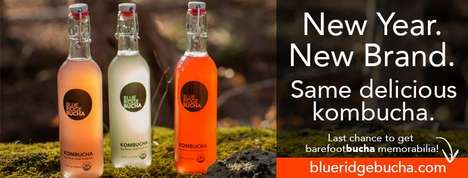 Crowdsourced Rebranding Campaigns - Barefoot Bucha Used Fan Input to Rebrand as Blue Ridge Bucha