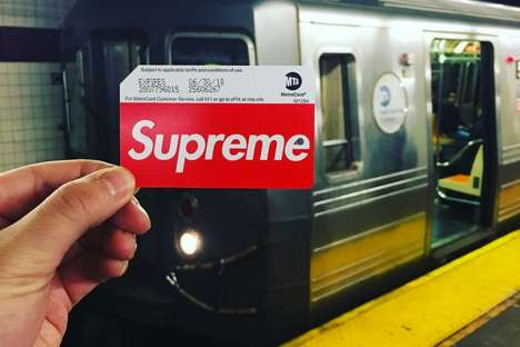 Streetwear Brand Transit Cards - Supreme Created Custom MetroCards for Style-Savvy Commuters
