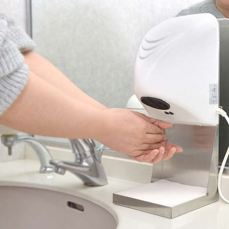 Compact At-Home Hand Dryers - The Thanko Bathroom Hand Dryer Does Away with the Need for Towels