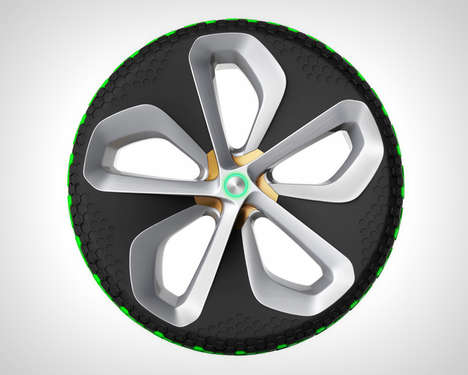 Interchangeable Cartridge Tires - The 'Green Hive' Car Tires Keep the Tread in Tip-Top Shape
