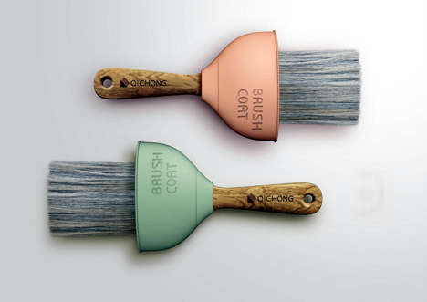 Drip-Catching Brush Attachments - The 'Brush Coat' Silicone Sleeve Eliminates Drips During Painting
