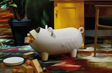 Toy Swine Storage Statues