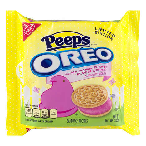 Easter Marshmallow Cookies - The Peeps Oreo Sandwich Cookies are Limited-Edition for Spring