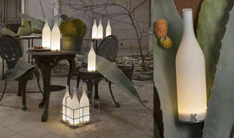 Illuminating Bottle Lamps - The Karman 'Bacco' Rechargeable Lamps is Suitable for the Dinner Table