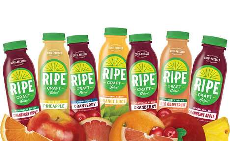 Minimally Processed Fruit Juices - The RIPE Craft Juices are Cold-Pressed and Nutritious
