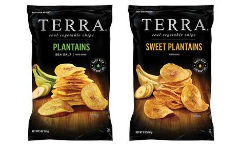 Nutrient-Dense Plantain Chips - The TERRA Plantain Chips are Made with Minimal Ingredients