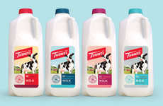 Turner's Dairy Farms Branding Maintains a Modern Yet Retro Design