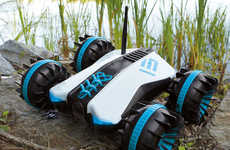 The Rover Land and Sea Amphibious RC Car is Ruggedly Designed