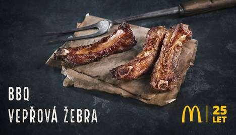 Fast Food Pork Ribs - McDonald's Czech Republic is Now Serving Up BBQ Ribs