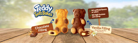 Chewy Teddy Bear Cookies - The New Teddy Soft Bakes Snacks are a Chewy Alternative to Teddy Grahams