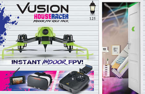 Indoor Racing Drones - The Vusion House Racer Drone is Designed for Indoor Racing