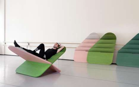 Modern Flatpack Loungers - The 'Daydream' Lounging Chair Features a Criss-Cross Design