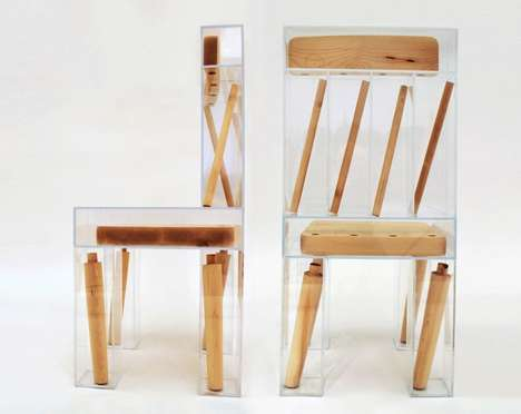 Compartmentalized Component Seating Chairs - The 'Exploded Chair' Has a Fragmented Aesthetic