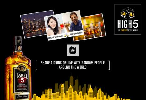 Virtual Drink-Sharing Campaigns - Label 5's 'High 5' Campaign Lets People Share Drinks Online