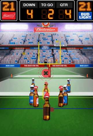 Ephemeral Football Games - Anheuser-Busch Brought Back Its 90s 'Bud Bowl' Ad as a Snapchat Game