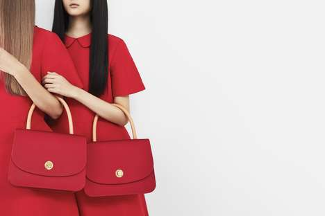 Single-Tone Purse Editorials - The New Mansur Gavriel Collection Consists of Bright Red Looks