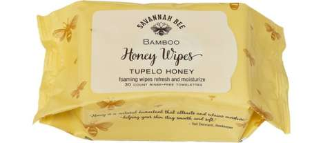 Biodegradable Bamboo Body Wipes - Savannah Bee Honey Cleansing Wipes are Made with Oils and Honey