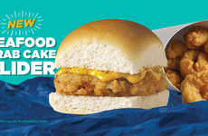 Snack-Sized Seafood Burgers - White Castle is Celebrating Lent with the New Seafood Crab Cake Slider